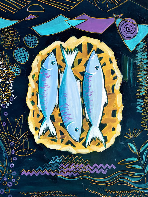 Fish and rice by Bridget March