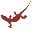 LE GECKO LOGO MAROON.png