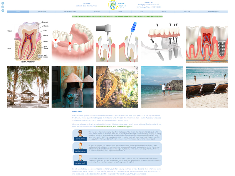 DENTAL TOURISM ASIA | WEBSITE DESIGN