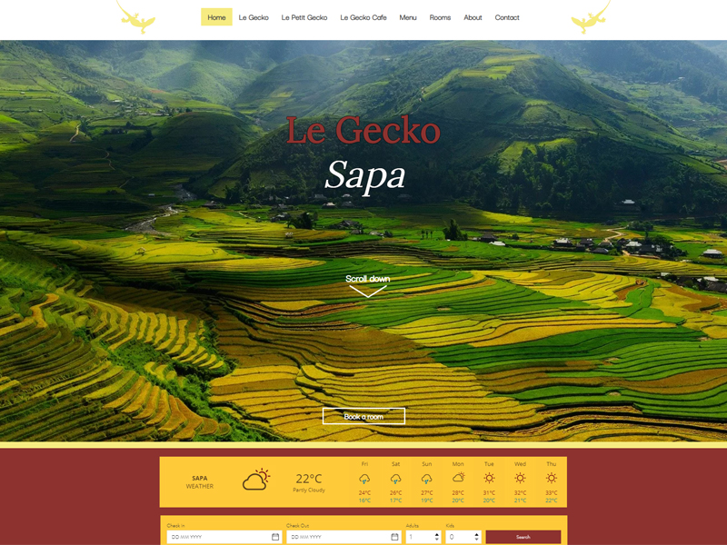 LE GECKO SAPA | WEBSITE DESIGN