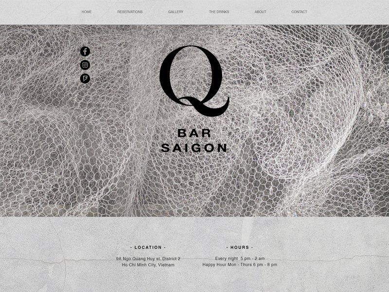 Q BAR SAIGON | WEBSITE DESIGN