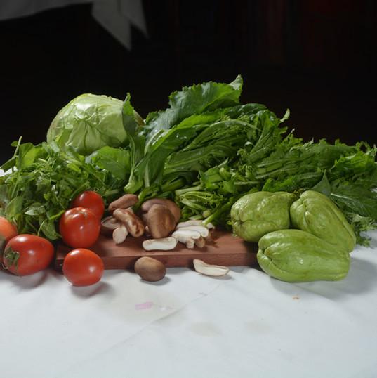 Fresh vegetables of Sapa