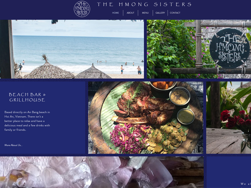 THE HMONG SISTERS HOI AN WEBSITE DESIGN.