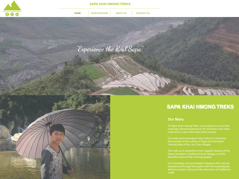 SAPA KHAI HMONG TREKS WEBSITE DESIGN