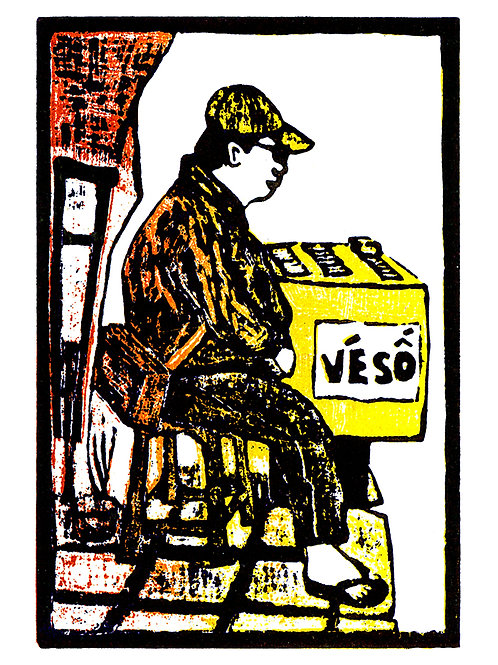 Lottery Ticket Seller (Ve So) by Jack Clayton