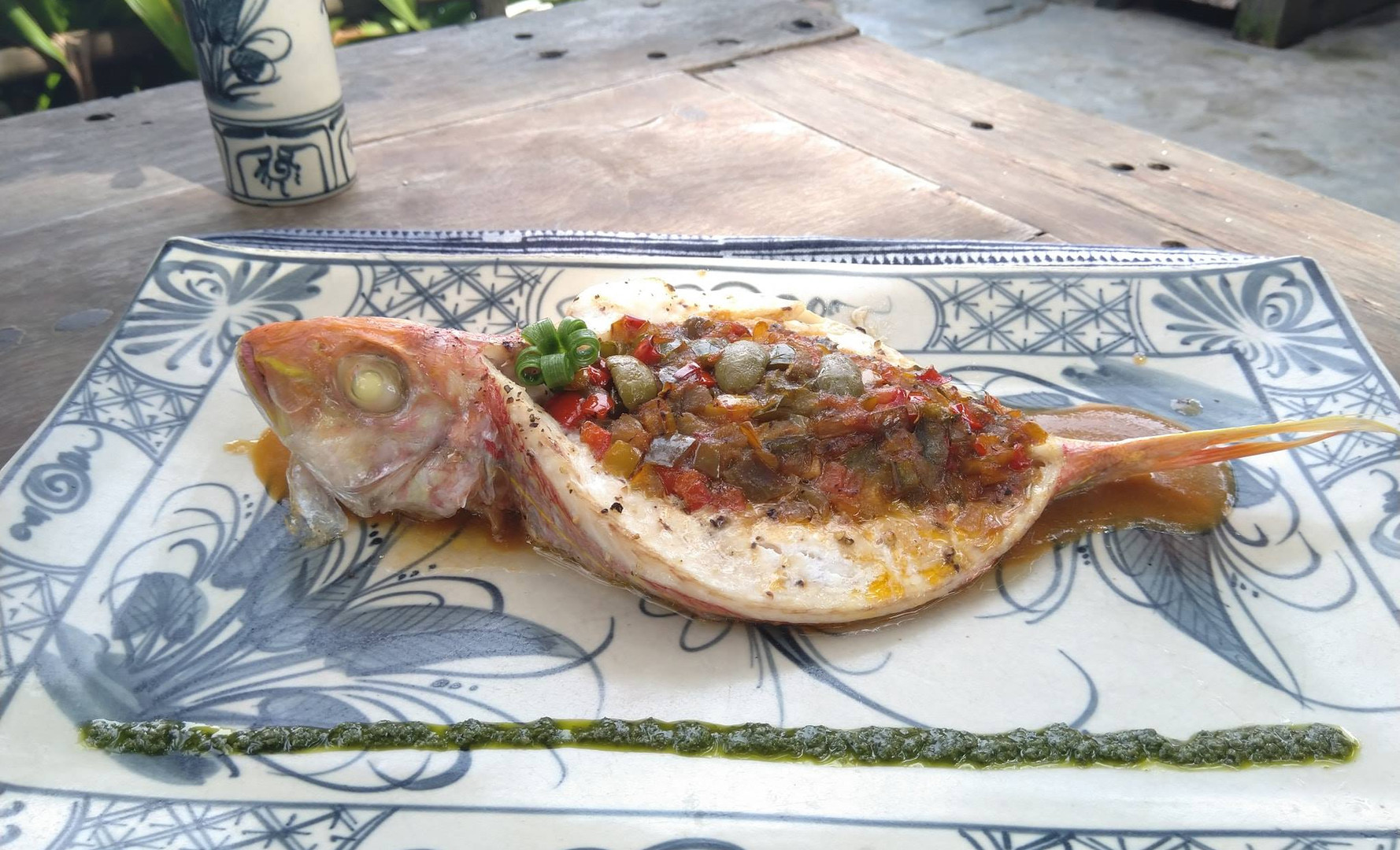 deboned red mullet with ratatouille and