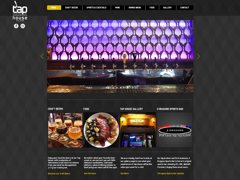 TAP HOUSE HOI AN WEBSITE DESIGN