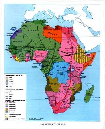 Afrique coloniale  Atlas 1973 JeuneAfriq