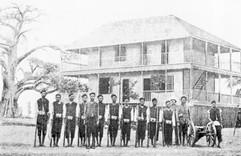 Les premiers soldats (Bangalas) de la Force Publique  (1884)
