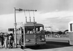 Un gyrobus à Léopoldville