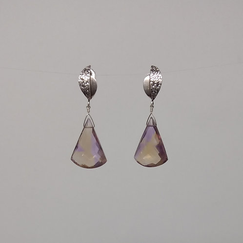 Ametrine drops earrings
