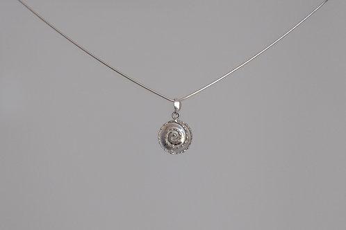 Pendant spiral in silver