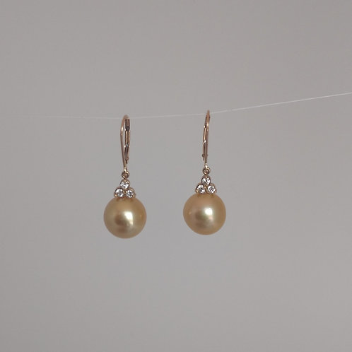 Golden pearls and diamondss