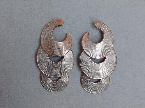 Earrings dangle half moons by Breuning