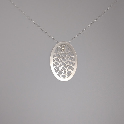 Pendant brushed sterling silver by Kelim