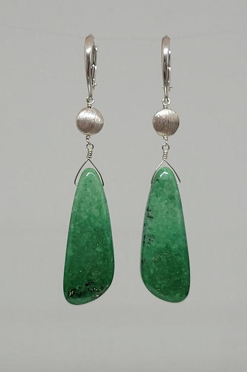 Earrings grossular garnet in sterling silver