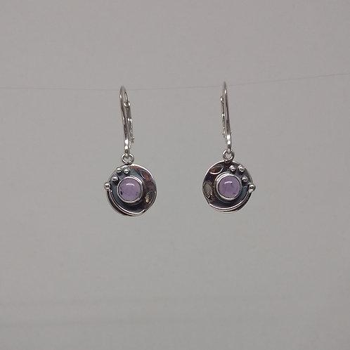 Earrings amethyst in sterling silver