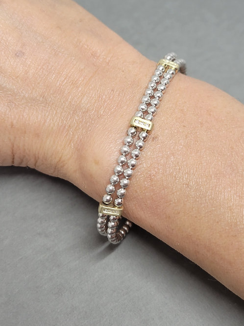 Bracelet white sapphires in sterling silver by Breuning