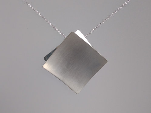 Pendant sterling squares by Breuning