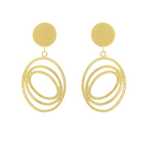 Earrings ovals on post by Tezer