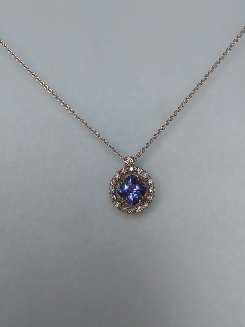 Pendant tanzanite and diamonds