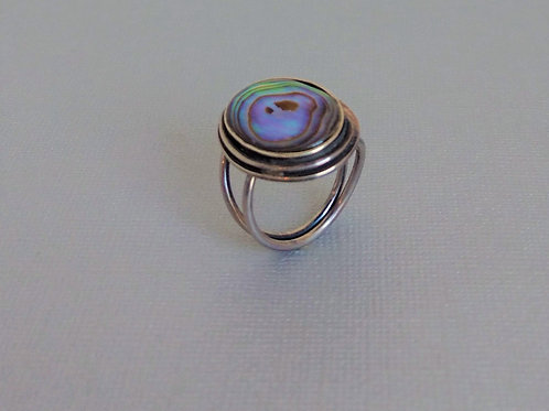 Ring abalone in sterling silver