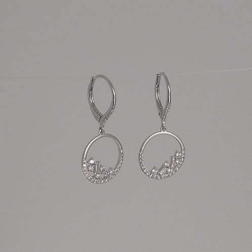 Earrings white gold and diamonds by Dilamani
