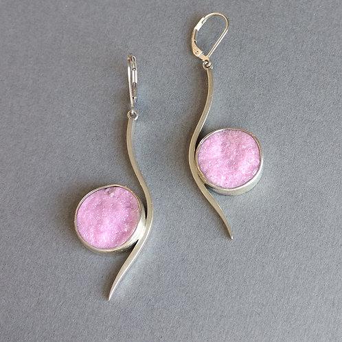 Earrings cobalt calcite