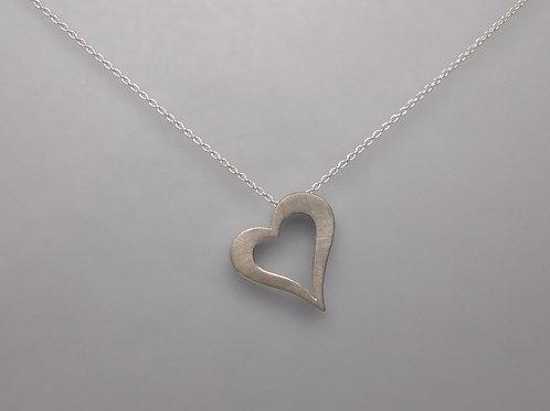 Heart in sterling silver