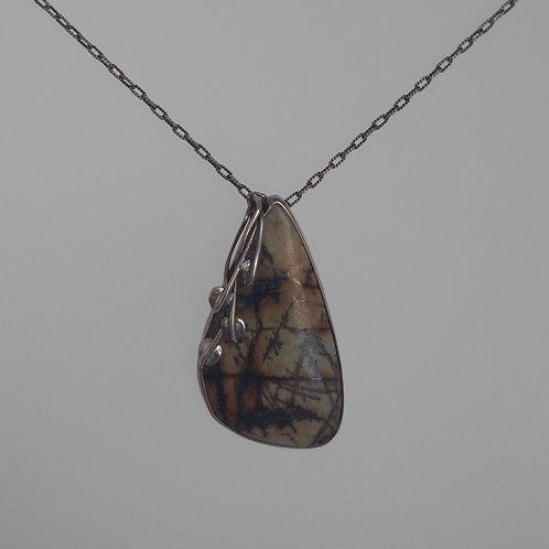 Pendant imperila jasper in sterling silver