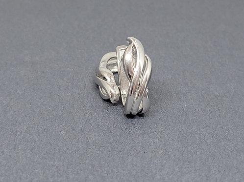 Hinged earrings in sterling silver by Breuning