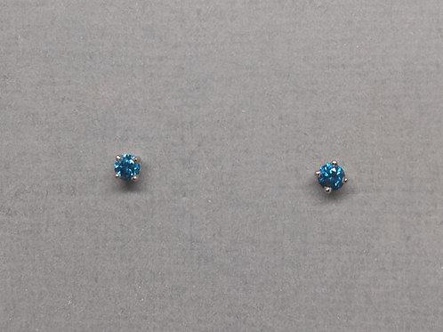 Earrings blue diamonds