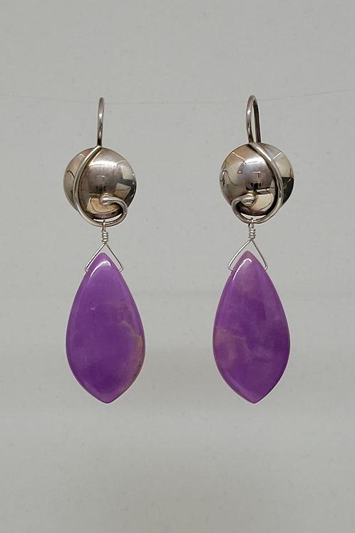 Earrings phosphosiderite in sterling silver