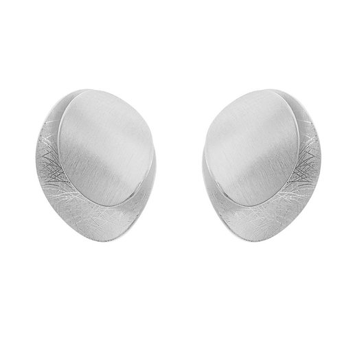 Earrings fluted ovals by Tezer