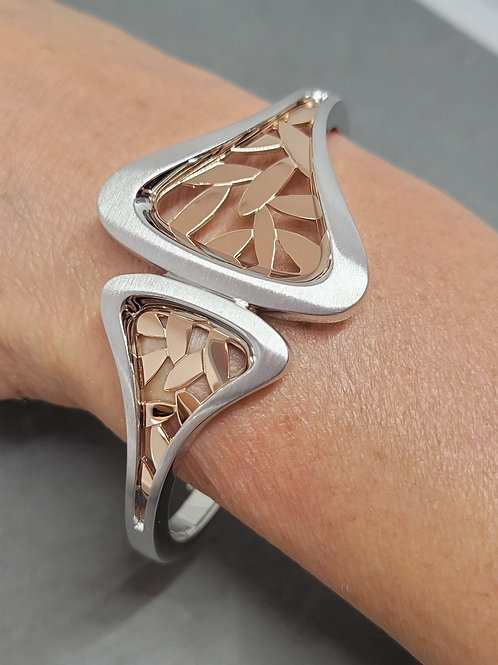 Bracelet sterling and rose gold plate by Breuning