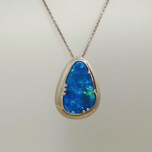 Opal Pendant in Sterling Silver
