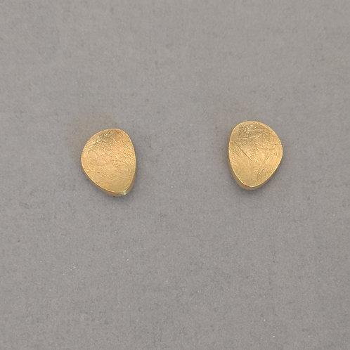 Earrings yellow gold plated earrings by Tezer