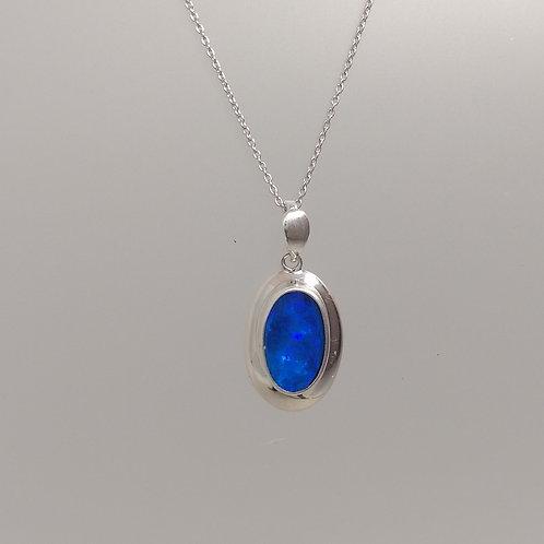 Blue opal in silver