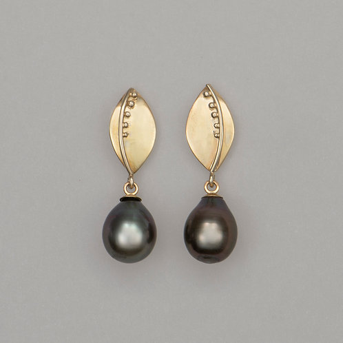 Earrings Tahitian pearls
