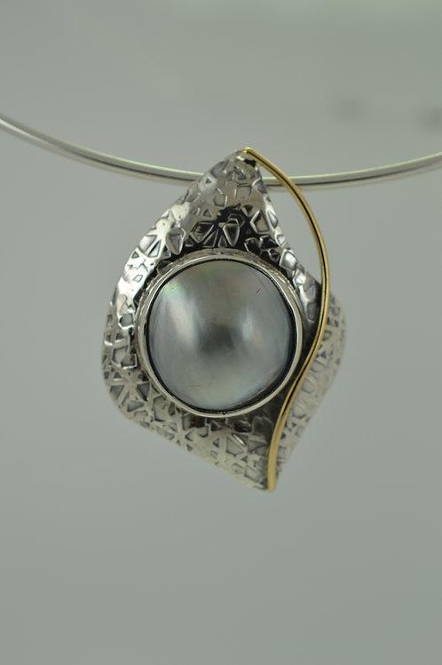 PendantTahitian mabe pearl