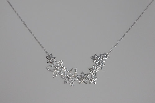 Necklace sterling silver white sapphires by Breuning