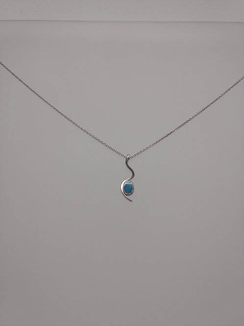 Pendant sterling silver and opal