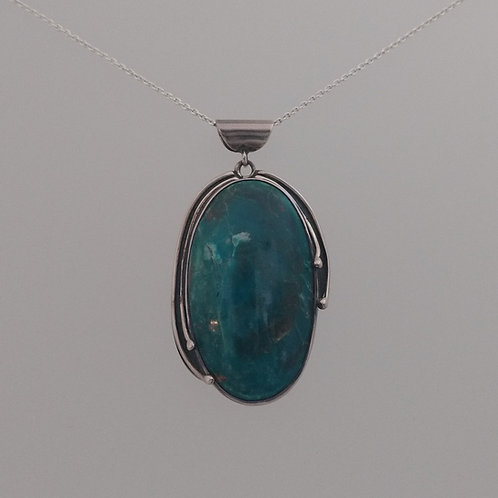 Pendant Peruvian opal in sterling silver