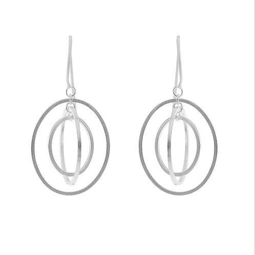 Earrings dangle ovals by Tezer
