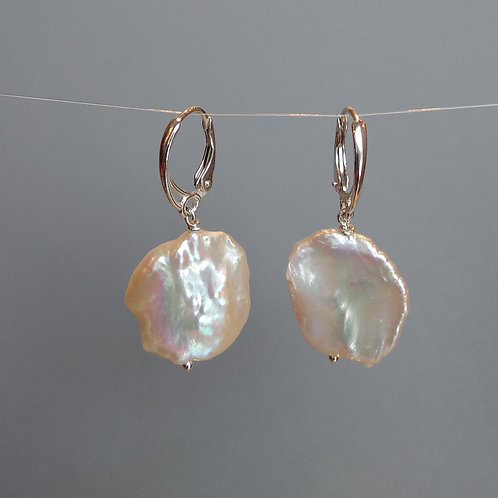 Earrings large kesi pearls