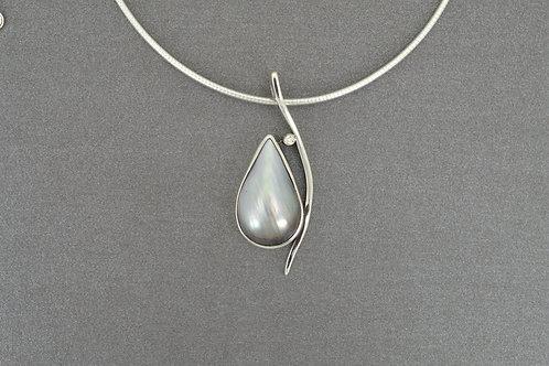 Pendant Tahitian pearl