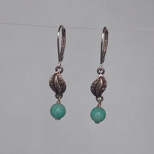 Earrings amazonite drops