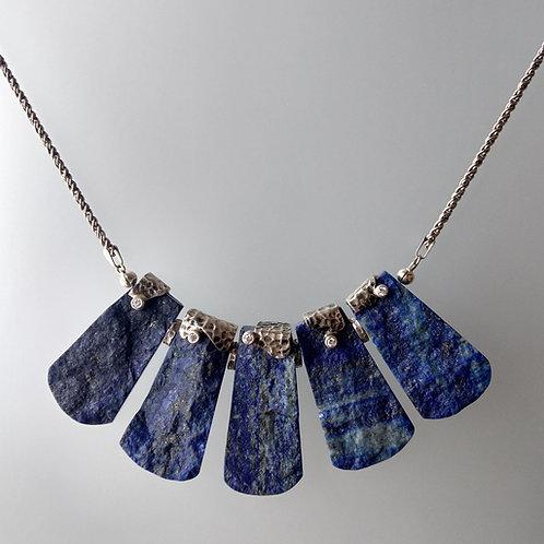 Lapis necklace and diamonds