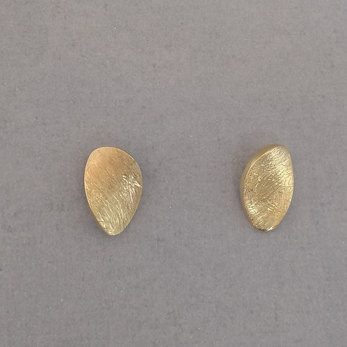 Earrings yellow gold plated sterling silver by Tezer