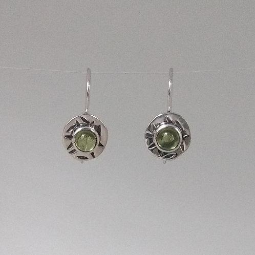 Earrings peridot dangles